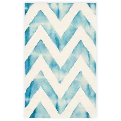 Turquoise/Ivory Area Rugs
