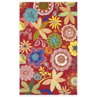 2 3 x 7 6 Red Rug Multi
