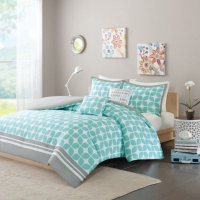 Intelligent Design Lita Twin/Twin XL Duvet Set in Aqua