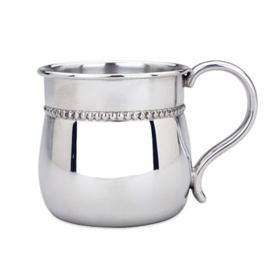 Reed & Barton Baby Beads Bulged Baby Cup