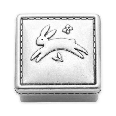 Reed & Barton Quilted Rabbit Keepsake Box