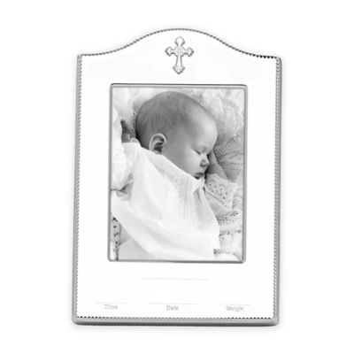 Reed & Barton Abbey Birth Record 4-Inch x 6-Inch Picture Frame