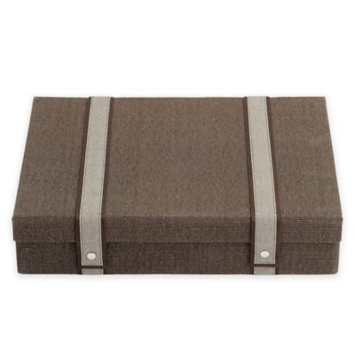 Reed & Barton Natural Instinct Woven Flatware Chest in Brown