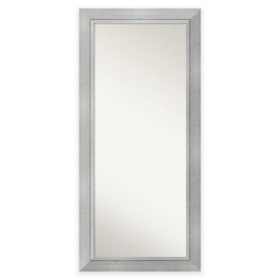31.25-Inch x 67.25-Inch Romano Floor Mirror in Silver