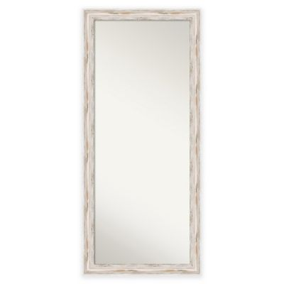 29-Inch x 65-Inch Alexandria Floor Mirror in Distressed White