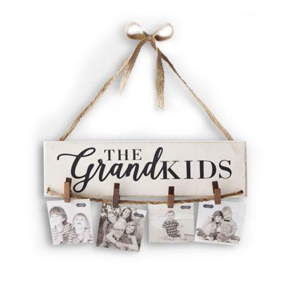 "Mud Pie ""The Grandkids"" Clothespin Hanging Photo Holder"
