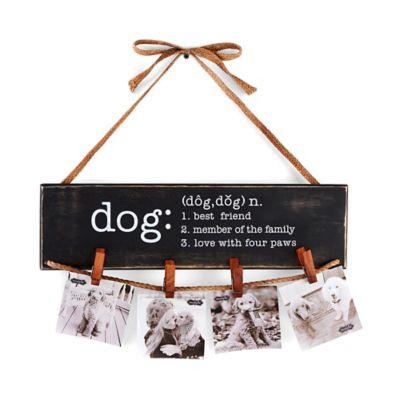 "Mud Pie ""Dog"" Clothespin Hanging Photo Holder"