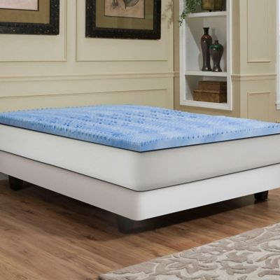 Independent Sleep 2.5-Inch Memory Foam with Gel Convoluted Full Mattress Topper