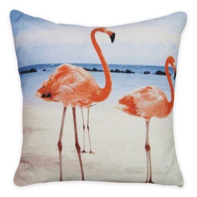 Park B. Smith® Vintage House Beach Flamingo Square Throw Pillow