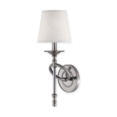 Savoy House 1-Light Wall Sconce in Brushed Pewter