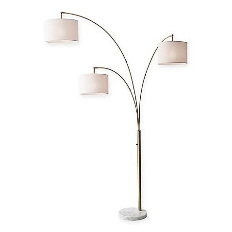 Adesso Bowery 3 Arm Arc Floor Lamp Www Bedbathandbeyond Com