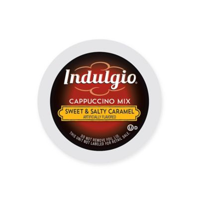 24-Count Indulgio® Sweet & Salty Caramel Cappuccino Mix Pods for Single Serve Coffee Makers