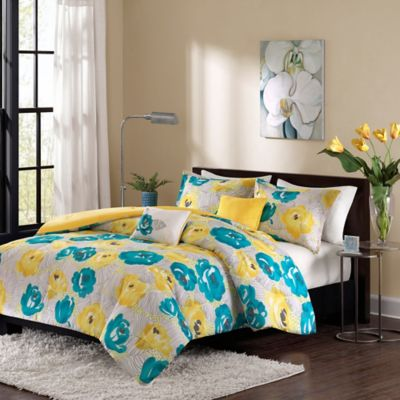 Intelligent Design Cinna Twin/Twin XL Duvet Set in Teal