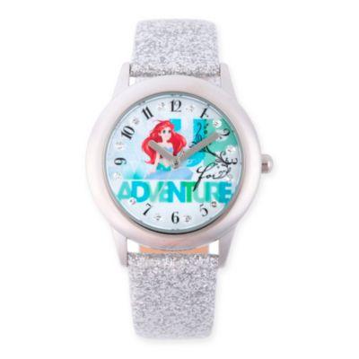 Disney® Little Mermaid Children's 32mm Ariel Adventure Watch in Stainless Steel w/Silver Strap