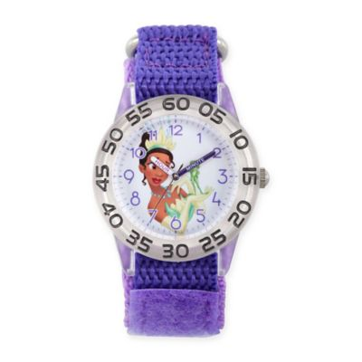 Disney® The Princess and The Frog Children's Tiana Time Teacher Watch in Plastic w/Nylon Strap