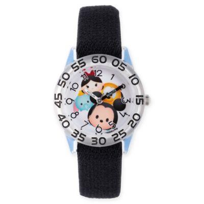 Disney® Tsum Tsum Children's Mickey and Pals Time Teacher Watch in Plastic w/Black Nylon Strap