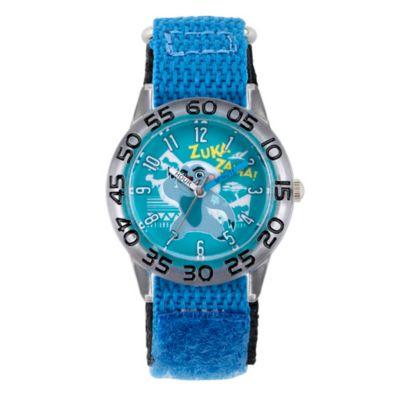 Disney® The Lion King Children's Bunga Time Teacher Watch in Plastic w/Blue Nylon Strap