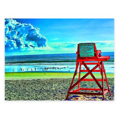 Guard Chair All-Weather Outdoor Canvas Wall Art