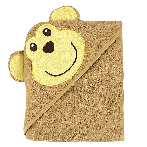 baby vision luvable friends monkey embroidery hooded towel. Black Bedroom Furniture Sets. Home Design Ideas