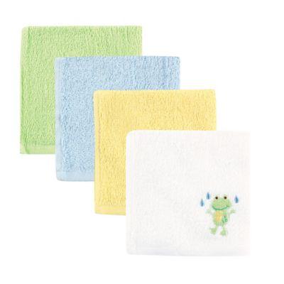 Baby Vision® Luvable Friends® 4-Pack Frog Washcloth Set