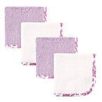 Babyvision® Hudson Baby® 4-Pack Woven Washcloth in Purple