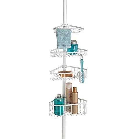 Interdesign york tension corner shower caddy www for Interdesign york
