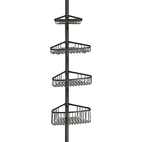 Buy interdesign york tension corner shower caddy in for Interdesign york