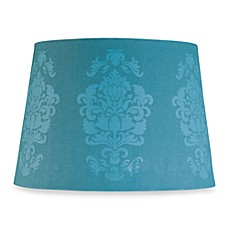 Mix and Match Teal Damask Lamp Shade