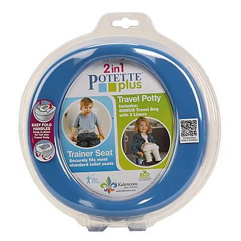 Potette® Plus 2-in-1 Travel Potty & Trainer Seat by Kalencom in Blue