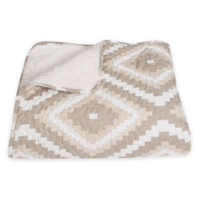 Coral Printed Throw