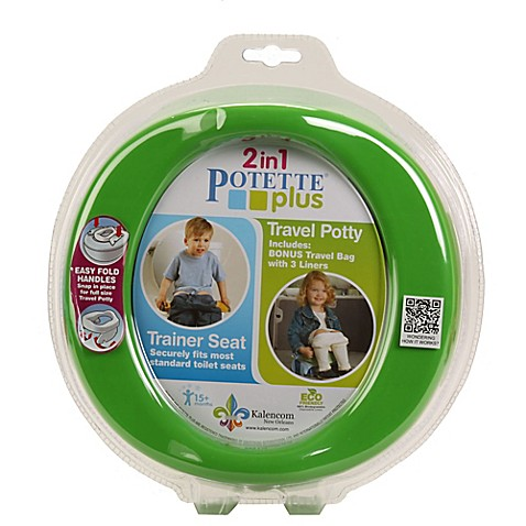 Potette® Plus 2-in-1 Travel Potty & Trainer Seat by Kalencom in Green