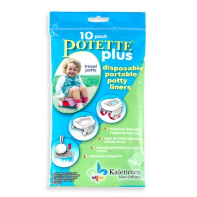 Potette® Plus Trainer Seat Liner Refills (Package of 10) in Light Blue