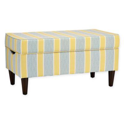 Skyline Furniture Katy Storage Bench in Eze Lemon