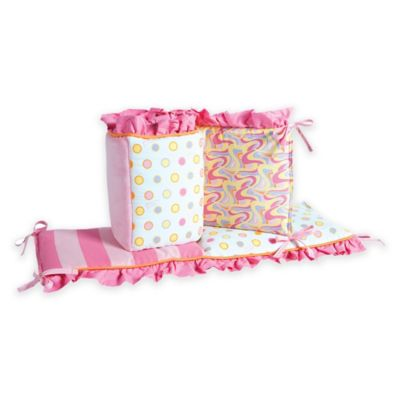Trend Lab® Dr. Seuss™ Oh, the Places You'll Go! 4-Piece Crib Bumper Set in Pink