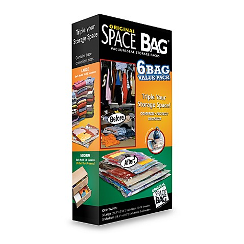 Original Space Bag® 6-Pack Vacuum Seal Storage Bags Value Pack