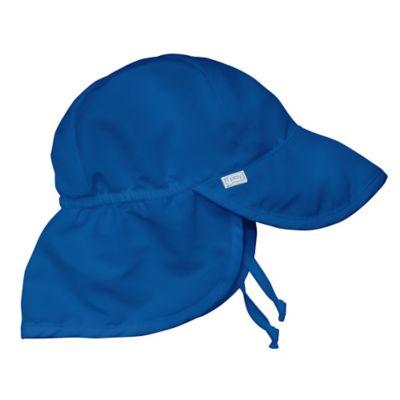 i play.® Newborn Sun Flap Hat in Royal Blue