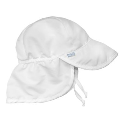 i play.® Infant Sun Flap Hat in White