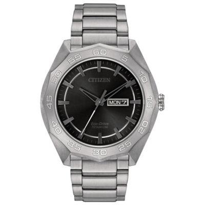 Citizen Eco-Drive Men's 44mm Super Titanium Grey Dial Sport Watch in Titanium
