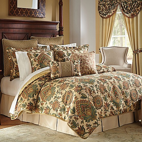 Croscill 174 Minka Comforter Set In Natural Teal Www