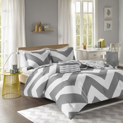 Mi Zone Libra Twin/Twin XL Duvet Set in Grey