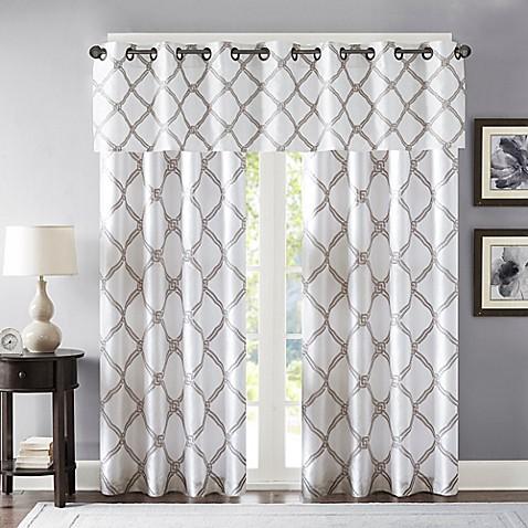 Bombay 174 Teramo Window Curtain Panels And Valance Www Bedbathandbeyond Com