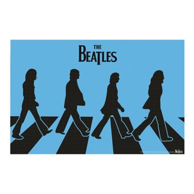 The Beatles Blue Silhouette Abbey Road Canvas Wall Art