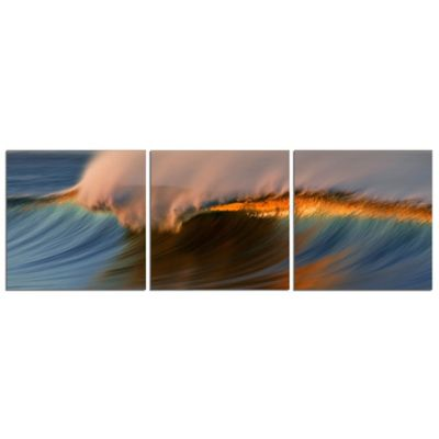 Elementem Photography Santa Barbara 3-Panel Photographic Canvas Wall Art