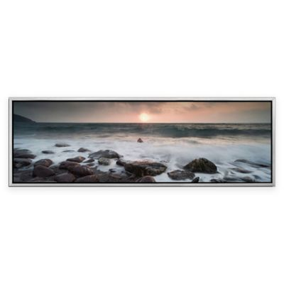 Elementem Photography Gray Sea Photographic Framed Wall Art