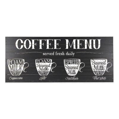 Coffee Menu Wood Wall Art