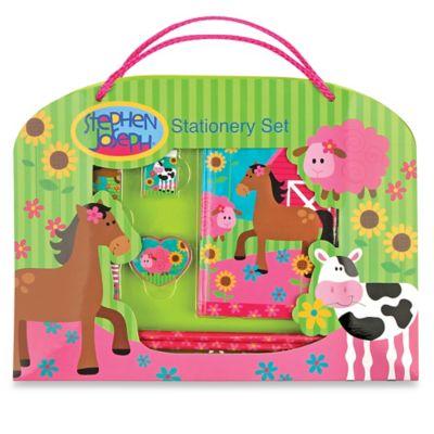 Stephen Joseph™ Girl Farm Stationery Set in Green/Multi