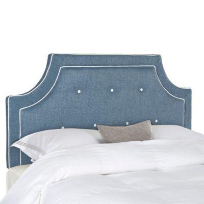 Safavieh Tallulah Full Headboard in Denim Blue/White