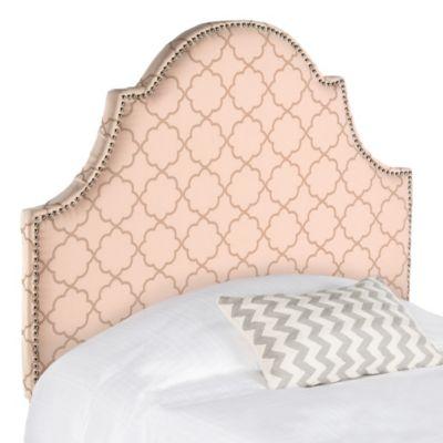 Safavieh Hallmar Twin Headboard in Pale Pink/Beige
