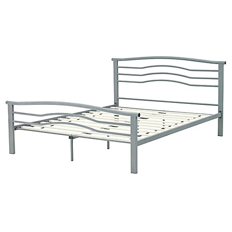 Buy e rest summer full metal platform bed in silver from for P s furniture concord vt