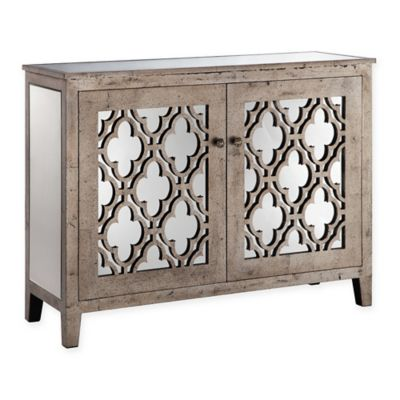 Stein World Aimee Console Cabinet in Champagne